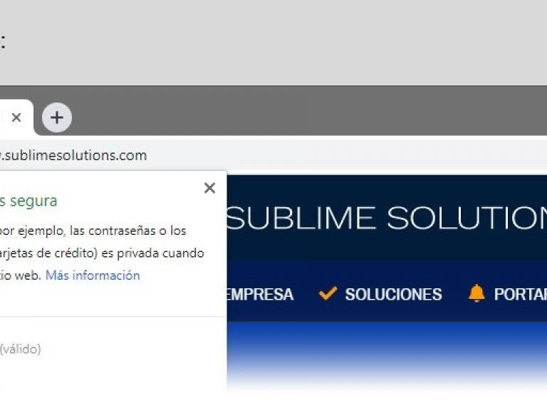 Sitio Seguro SSL